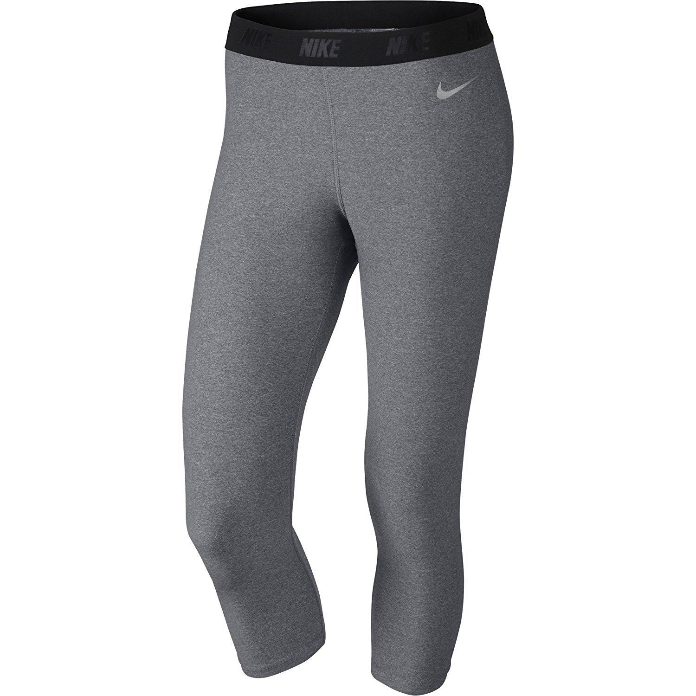 Nike Golfレディースカプリタイツ XS Carbon Heather/Metallic Silver B01462TK5S