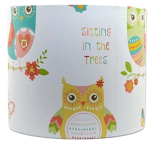 Owl Lampshade Or Ceiling Light Shade 10u201d Drum Girls Childrenu0027s Kids Pink Butterfly  Bedroom Nursery