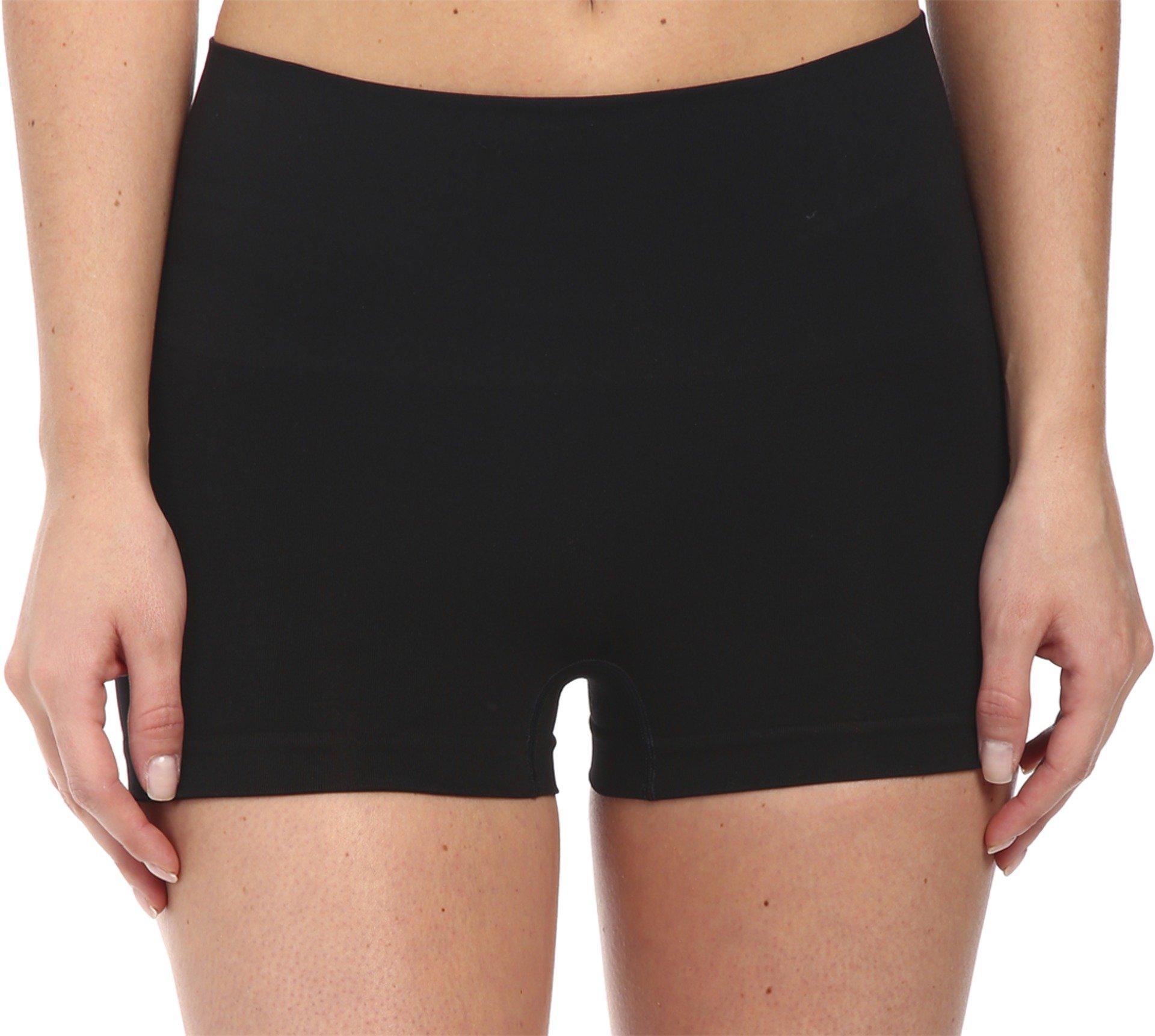 48baacd3fa Galleon - SPANX Women's Everyday Shaping Panties Seamless Boyshort Black Boy  Shorts LG