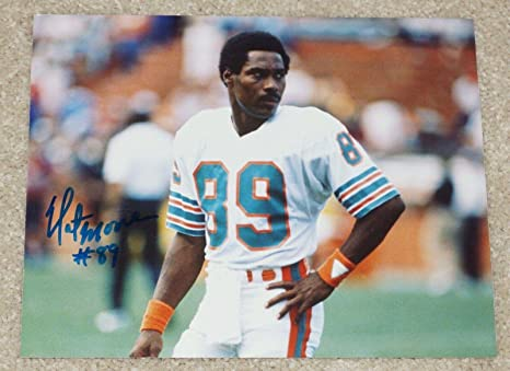 separation shoes b59ad 9a609 Autographed Nat Moore Photo - #89 wide receiver 8x10 Florida ...