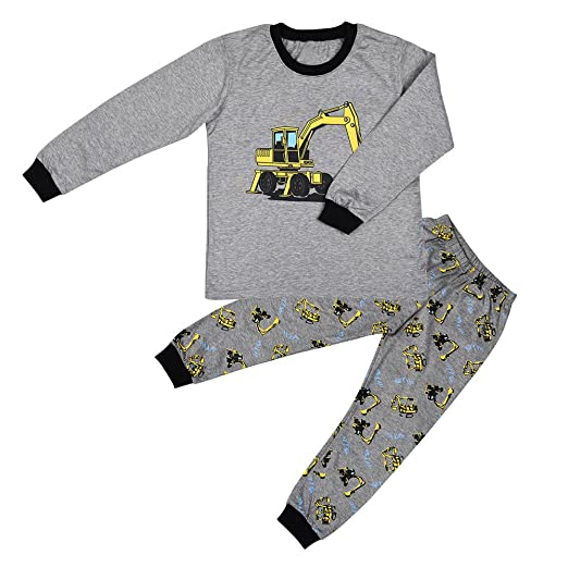 8ac9511108f9 Amazon.com  Euone for 0-5 Years Old Boy Pajamas Tractor Print T ...