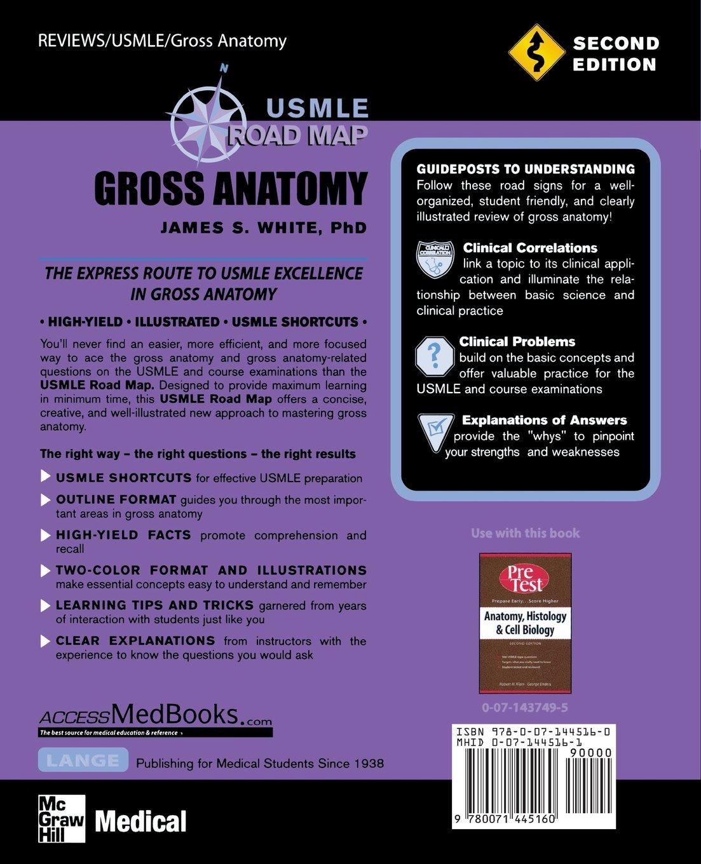 Buy USMLE Road Map Gross Anatomy, Second Edition (LANGE USMLE Road ...