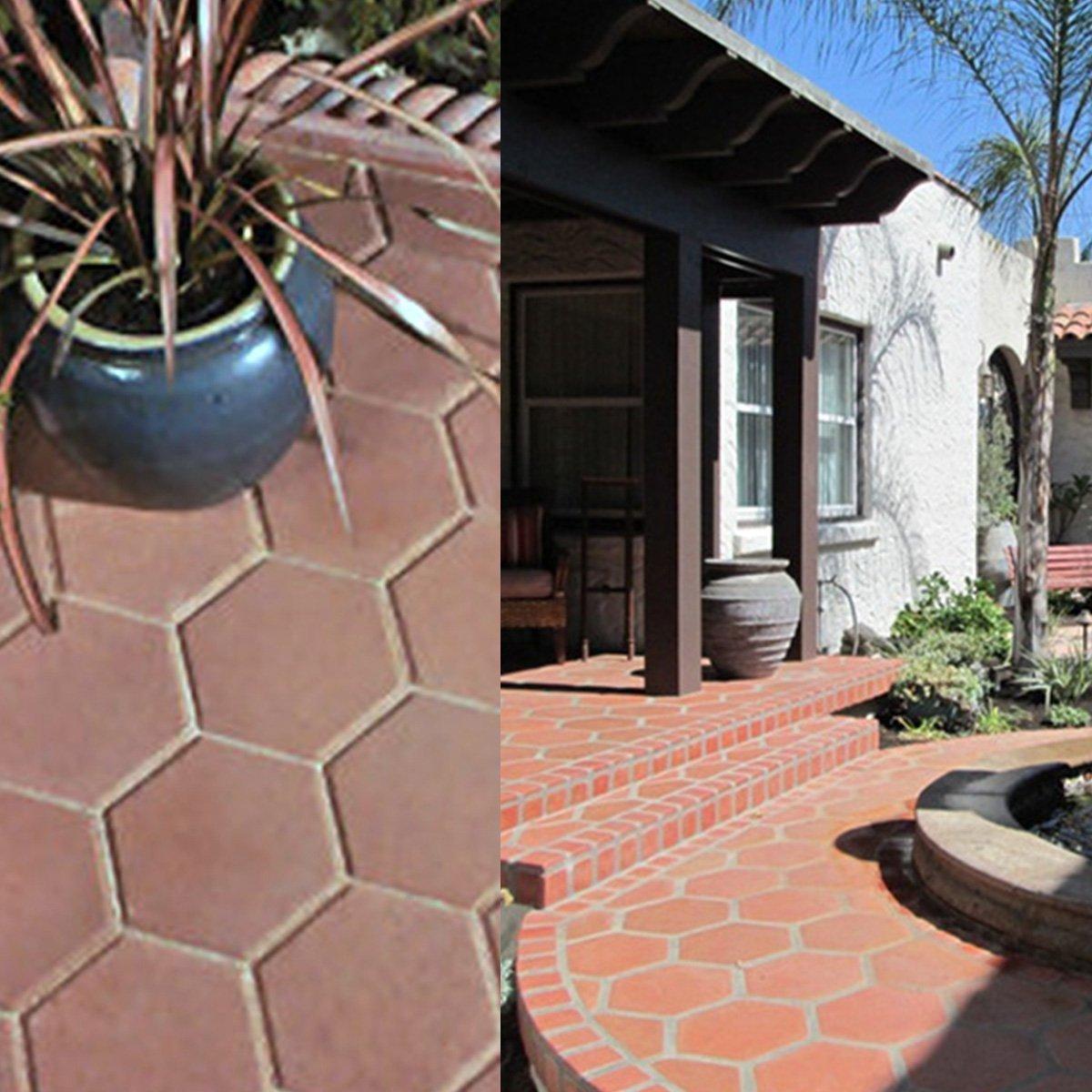 Amazon.com: FEESHOW - Molde de ladrillo hexagonal para hacer ...