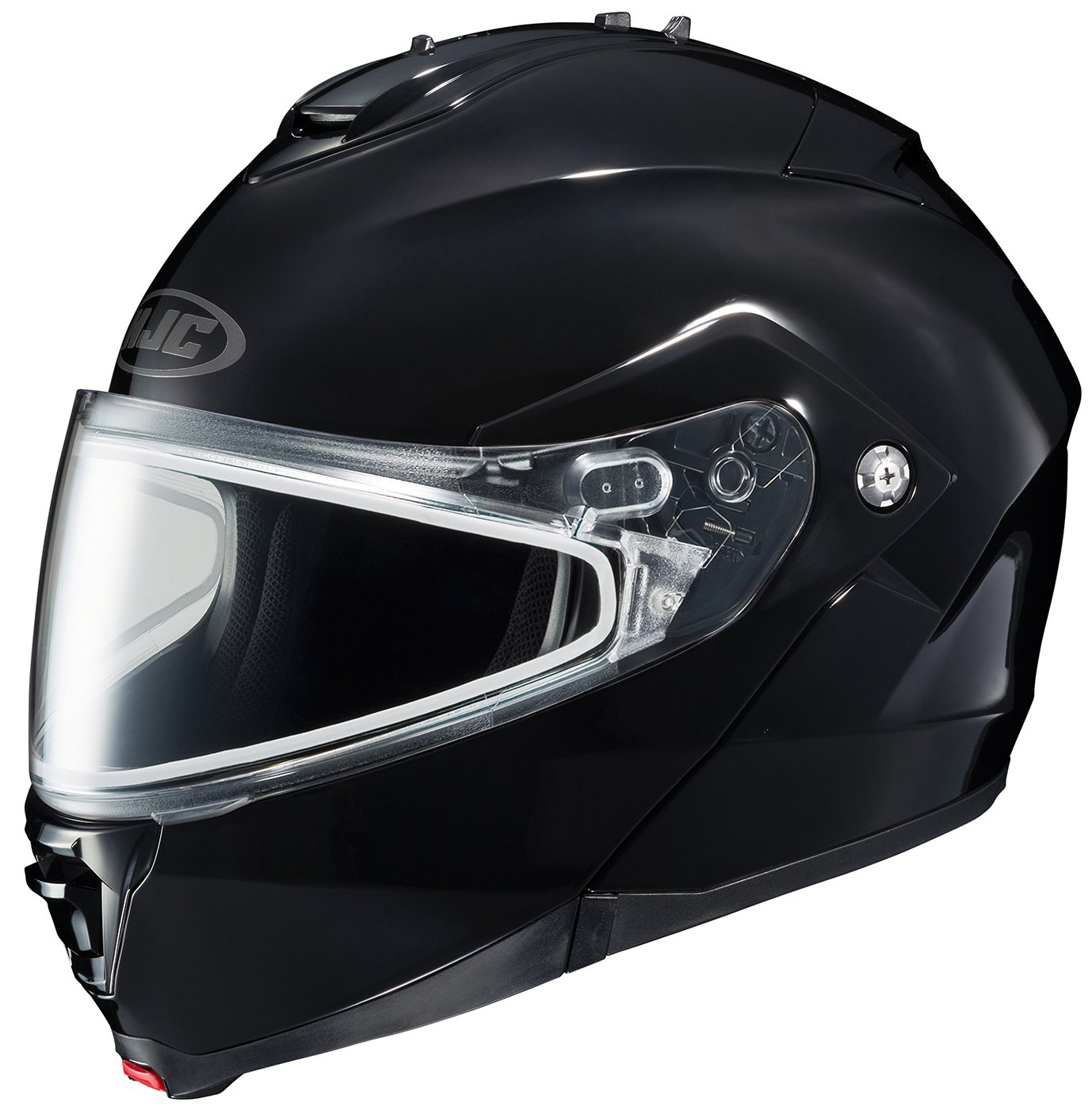 HJC IS-MAX2SN Solid Modular Snow Helmet Frameless Dual Lens Shield Black, X-Large