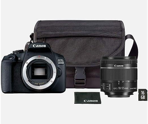 Canon EOS 2000D Kit Cámara Réflex 24.1MP WiFi NFC + Objetivo EF ...