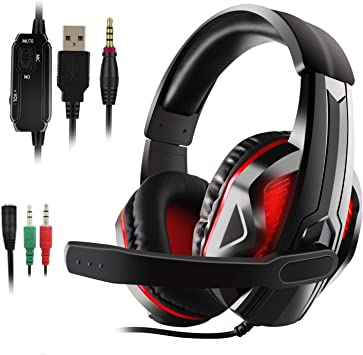 JAMSWALL Auriculares Gaming PS4, Cascos Gaming, Auriculares Cascos ...