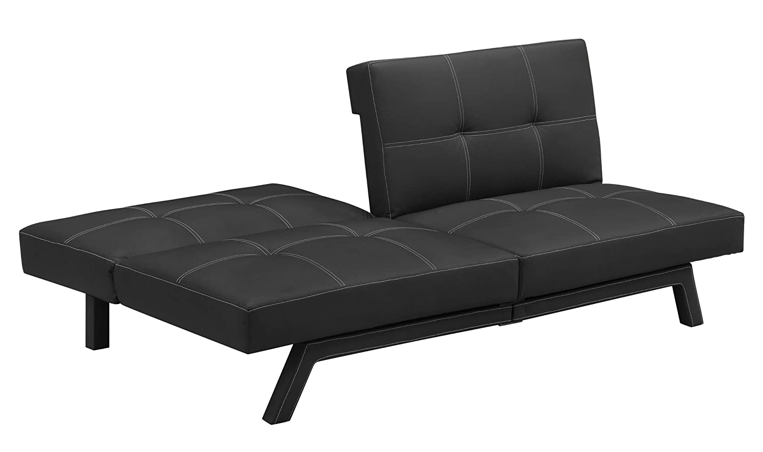 black velvet couch leather sofa sale com sofamania vlv flash blk abel tufted collections futon