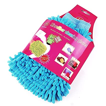 Gadgetbucket H1CK6 Multi-Purpose Micro Fiber Washing Gloves (Colour May Vary, Set of 2)