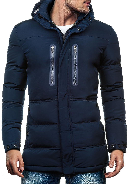 BOLF Men's Jacket Hooded Winter Coat Pockets EXTREME 1669