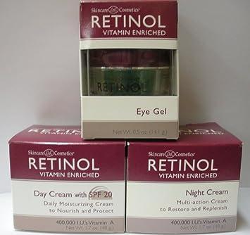 Skincare LdeL Cosmetics Retinol Day Cream SPF 20 1.70 oz (Pack of 4) Coryse Salome - Competence Anti-Age Facial Exfoliating Gel -200ml/6.7oz
