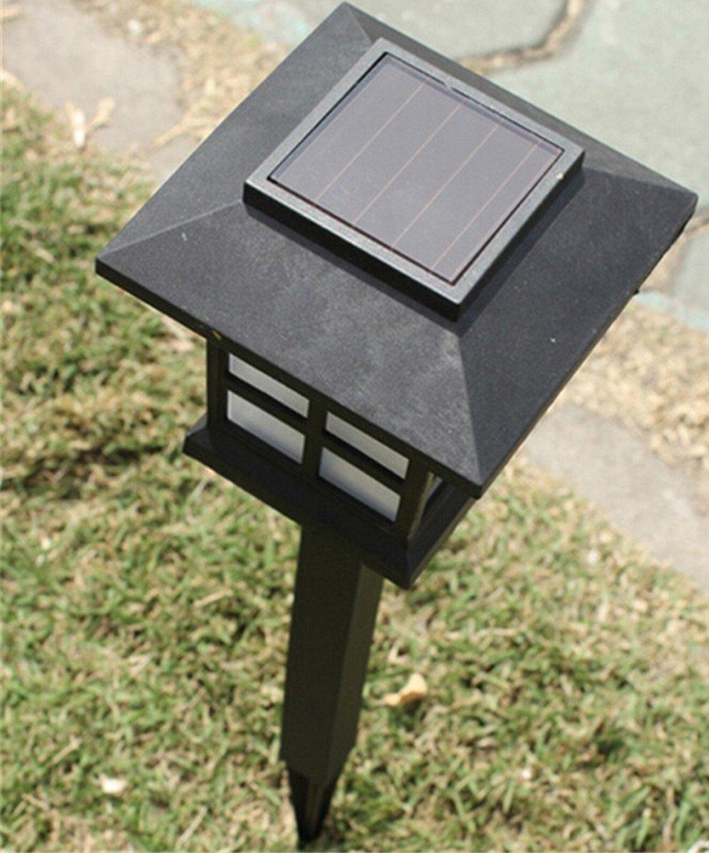 HKYH Waterproof Solar Lawn Lamps White ABS Spot Light Solar LED Path Light Outdoor Garden Lawn Lightings