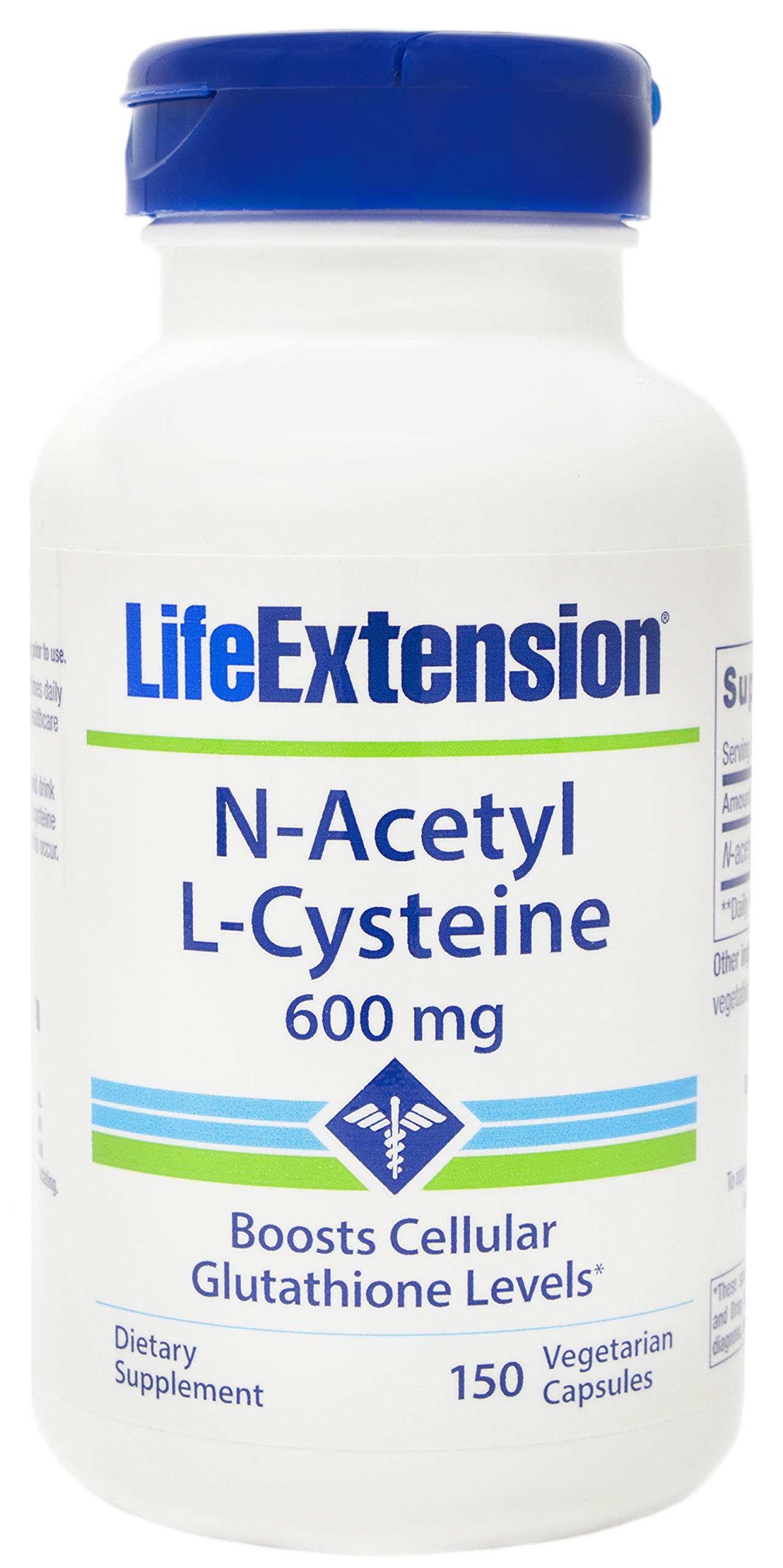 Life Extension N-Acetyl-L-Cysteine (NAC) 600mg, 150 Vegetarian Capsules