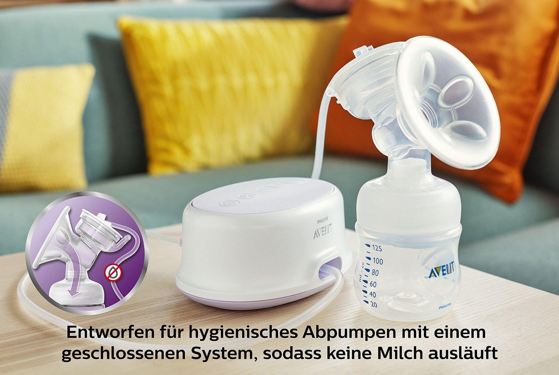 Philips Avent SCF332//01 Elektrische Komfort-Einzelmilchpumpe transparent