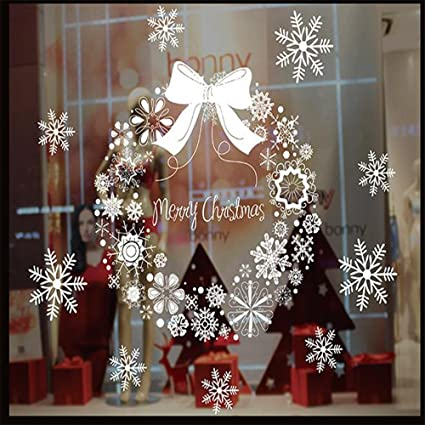 dd merry christmas decorations window clings decal stickers static electricity wall used on glass