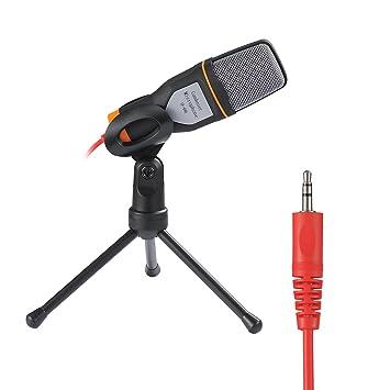 Rixow Micrófono Condensador profesional para ordenador/portátil, negro, Soporte Trípode sombresa: Amazon.es: Deportes y aire libre