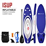 """Goplus Inflatable Stand up Paddle Board Surfboard SUP Board with Adjustable Paddle Carry Bag Manual Pump Repair Kit Removable Fin for All Skill Levels, 6"""" Thick"""