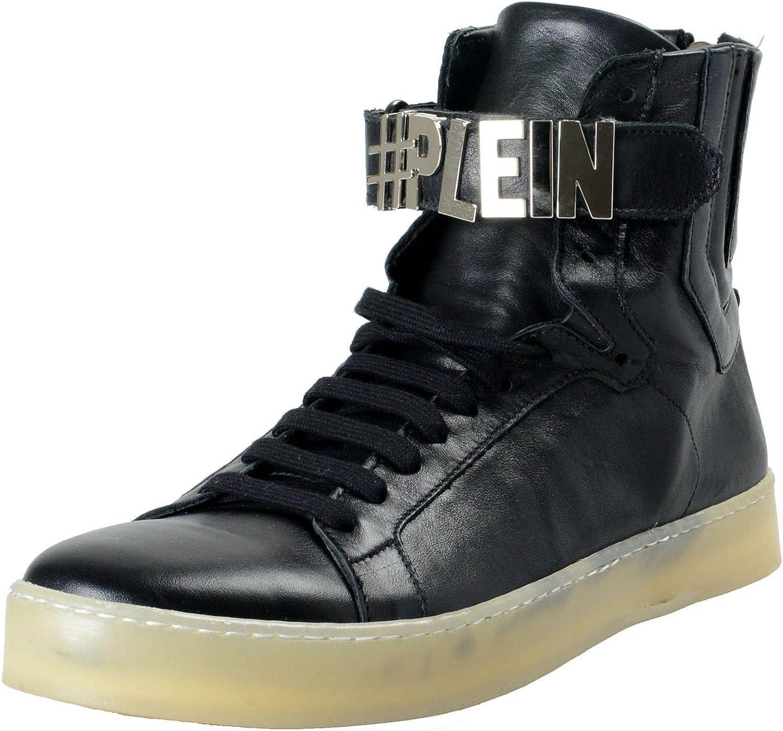 Philipp Plein Men's Black Leather High