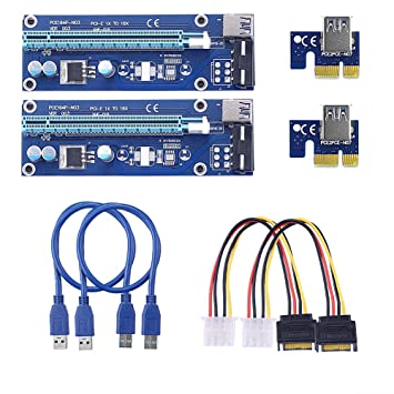 SIENOC USB3.0 1x a 16x Extender Riser adaptador de tarjeta ...