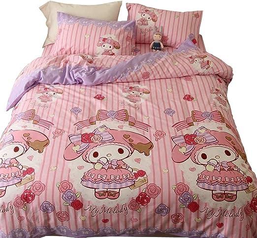 My Melody Pink Soft Warm Flannel Blanket Throw Plush Rug Girl Bedding Kids Gift