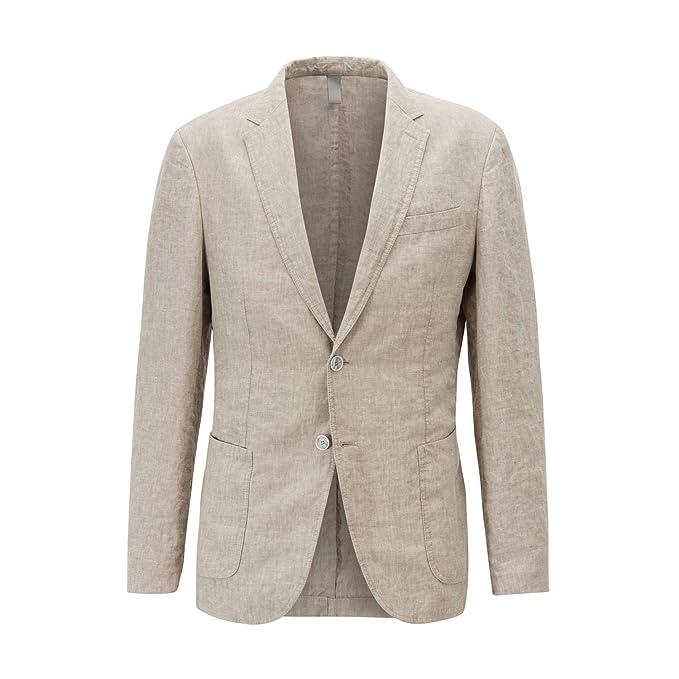 pretty nice 47036 a7cb4 Hugo Boss Giacca Slim Fit in Lino.: Amazon.it: Abbigliamento