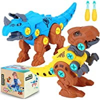 Niskite Dinosaur Toys for 3 4 5 Year Old Boys,Take Apart Learning Dinosaur Toys for Kids 5-7,Building Construction Stem…