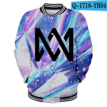 Amazon.com: WEEKEND SHOP Marcus&Martinus 3D Printed Baseball Jackets Women Men Jackets Streetwear Clothes: Clothing