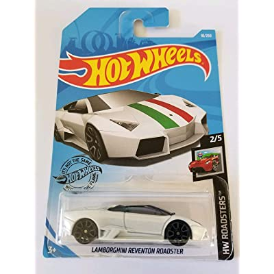Hot Wheels 2020 HW Roadsters Lamborghini Reventon Roadster 18/250, White: Toys & Games