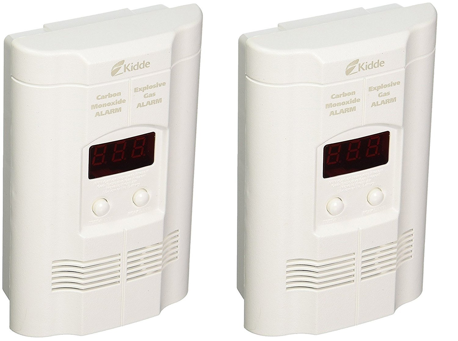 Kidde KN-COEG-3 Nighthawk Plug-In Carbon Monoxide and Explosive Gas Alarm with Battery Backup (Pack of 2) by Kidde