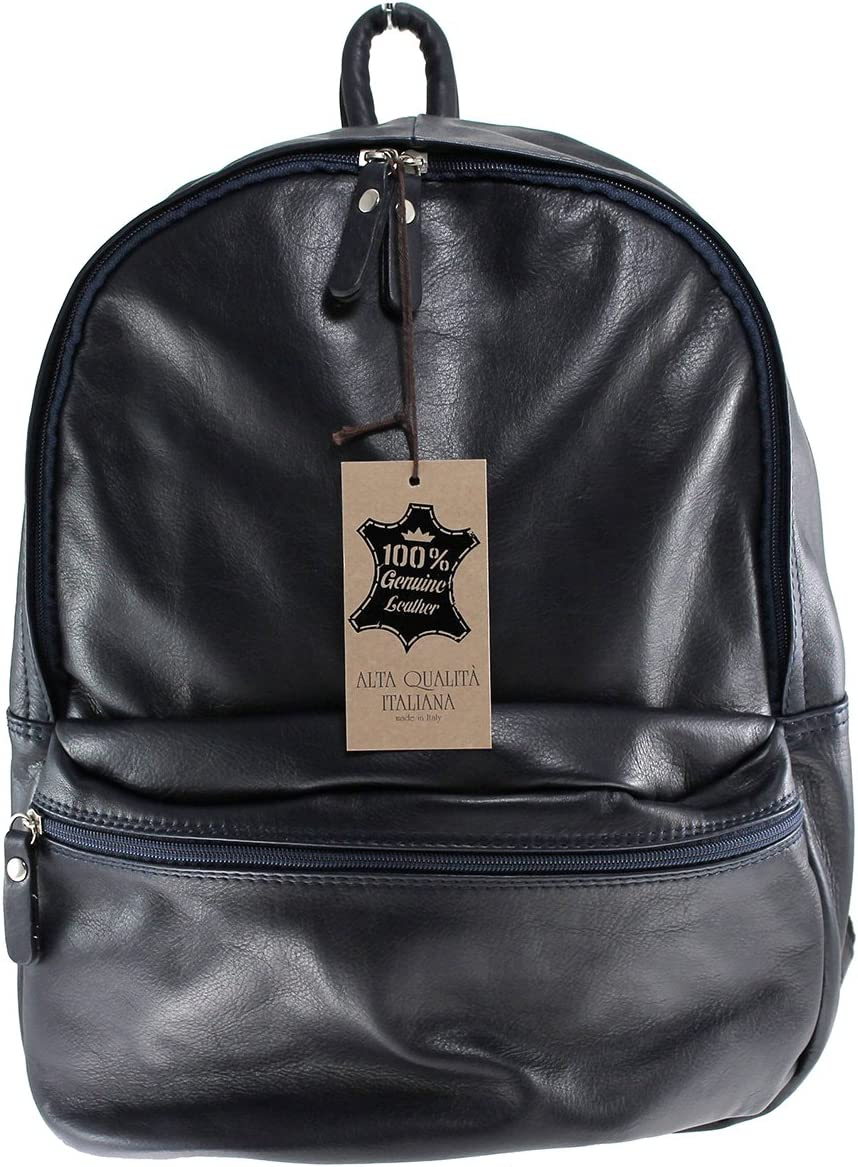 Chicca Borse Unisex's backpack genuine leather made