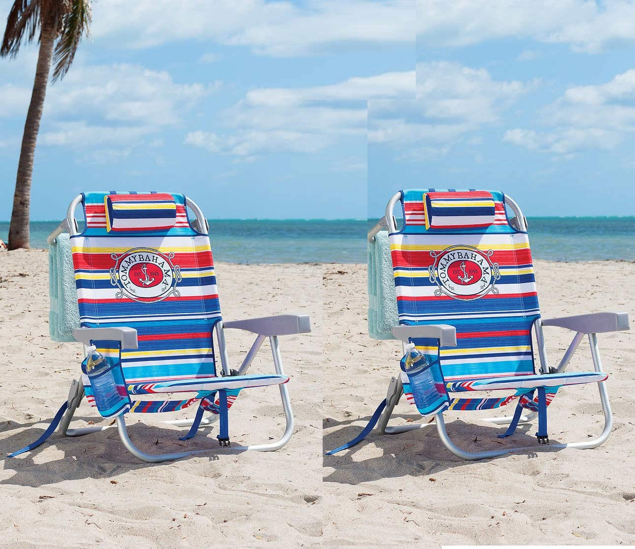 Tommy Bahama 2 Pack Backpack Beach Chair Multi Color Stripe by Tommy Bahama (Image #1)