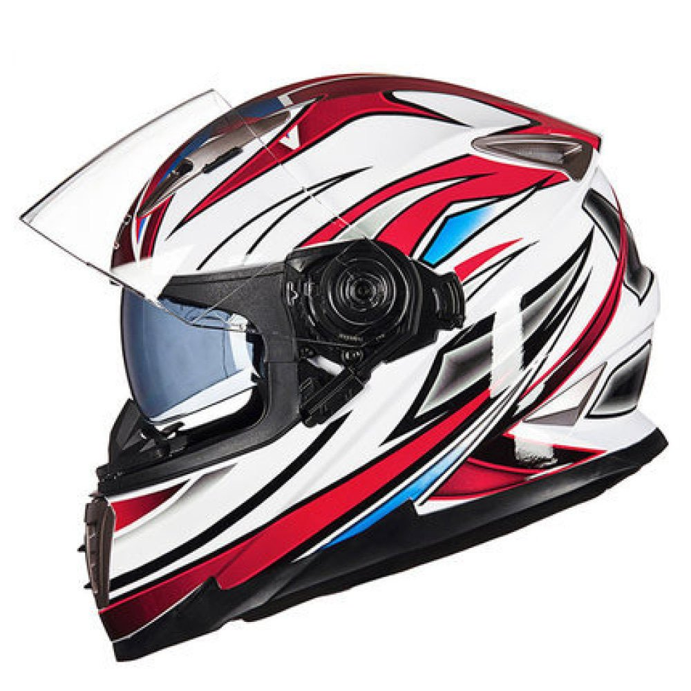 RAQ Sturzhelm im Freienart- und weisehelm ABS-Leichtgewichtler-Motorrad-Fahrrad-Sturzhelm-Sonnenschutzsicherheitsatmungsaktiver vierjahreszeiten-Sturzhelm (Farbe   B, größe   XL(58CM-60CM))