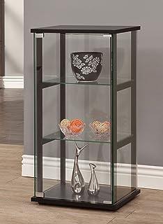 coaster home furnishings curio cabinet black