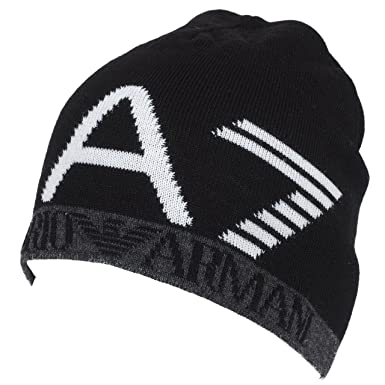 eeea292e356 Emporio Armani EA7 bonnet homme train visibility noir  Amazon.fr ...