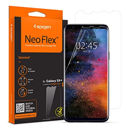 promo code 2c8e0 50325 Spigen NeoFlex Screen Protector Designed for Samsung Galaxy S9 Plus (2018  Release) (2 Pack)