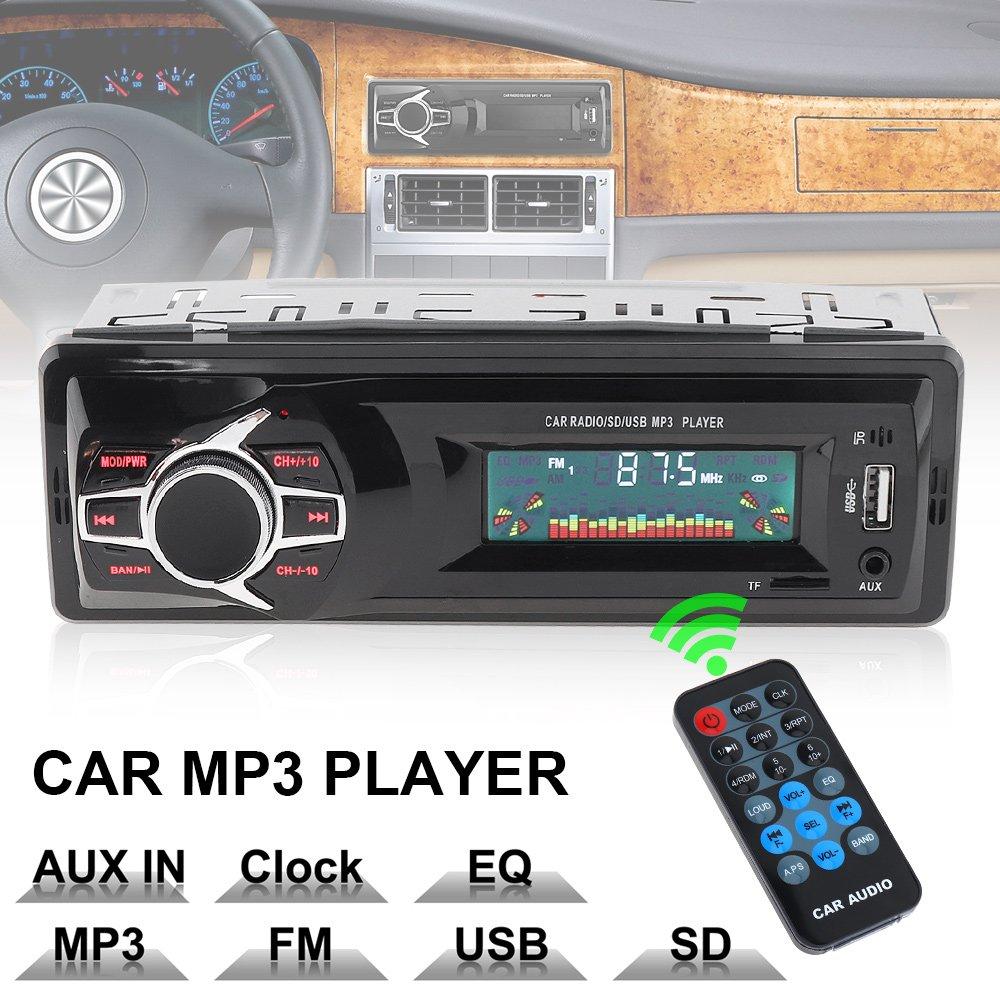 Reproductor de MP3 para radio de coche con pantalla LCD de 12 V y audio esté reo, compatible con TF/FM/USB/SD con mando a distancia EPATH DIRECT