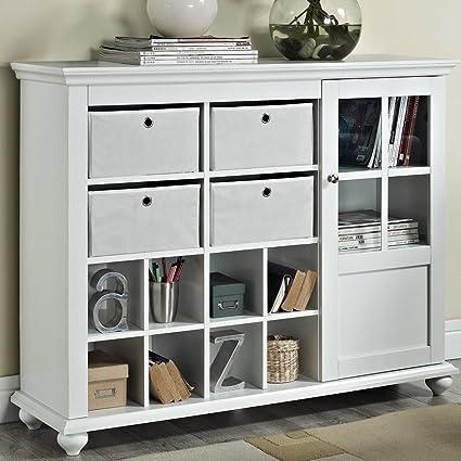 Altra Reese Park Storage Cabinet, White: Amazon.ca: Home & Kitchen