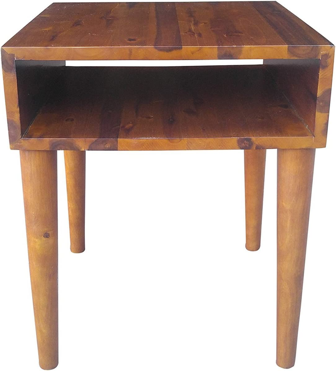 Mid-Century Modern Acacia Hardwood Side/End Table