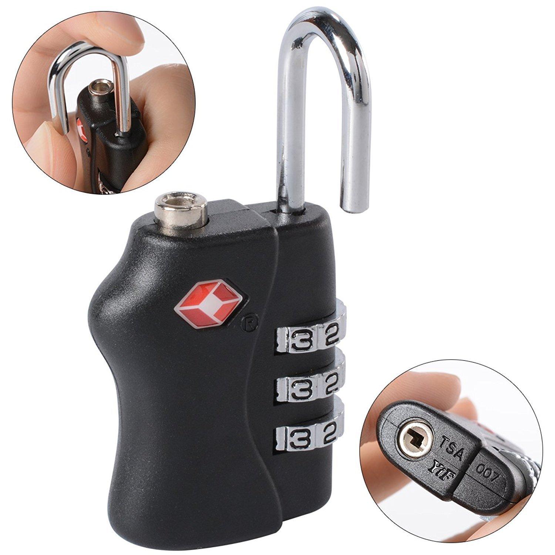 BlueBeach 2 PCS TSA Travel Lock for Suitcase Luggage Security 3 Digit Combination Number Padlock