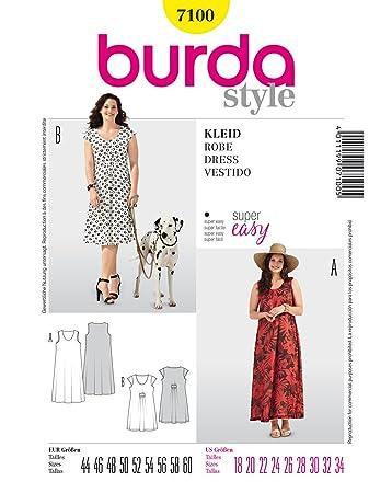 Burda Schnittmuster Sommerkleid, A-Linie: Amazon.de: Küche & Haushalt