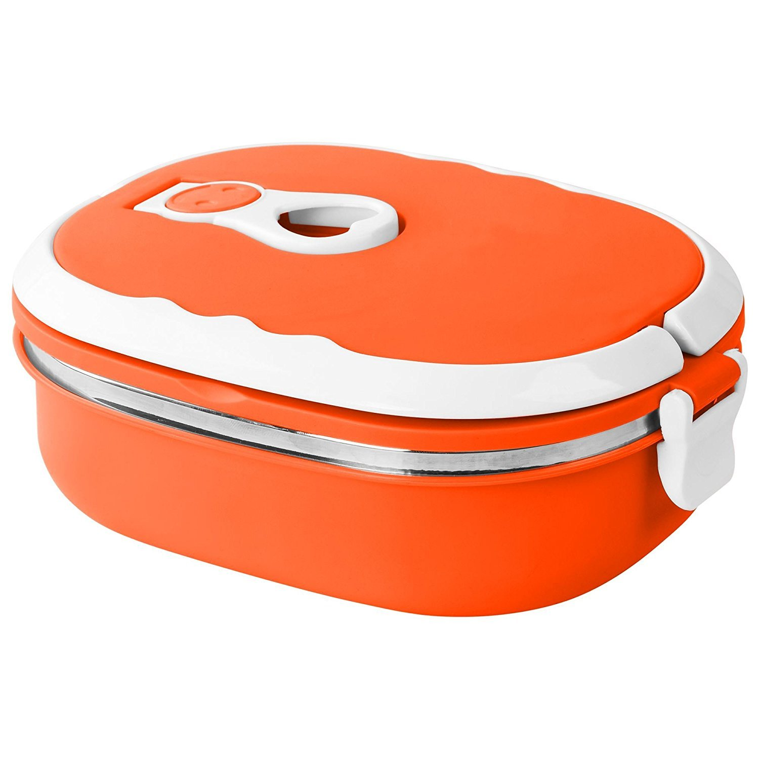 Blue Stacking Stainless Steel Airtight Vacuum Seal Thermal Insulated Portable One Or Two Layer Tier Tiffin Lunch Box Food Container (1 Layer, Blue) GonZalo GraCia