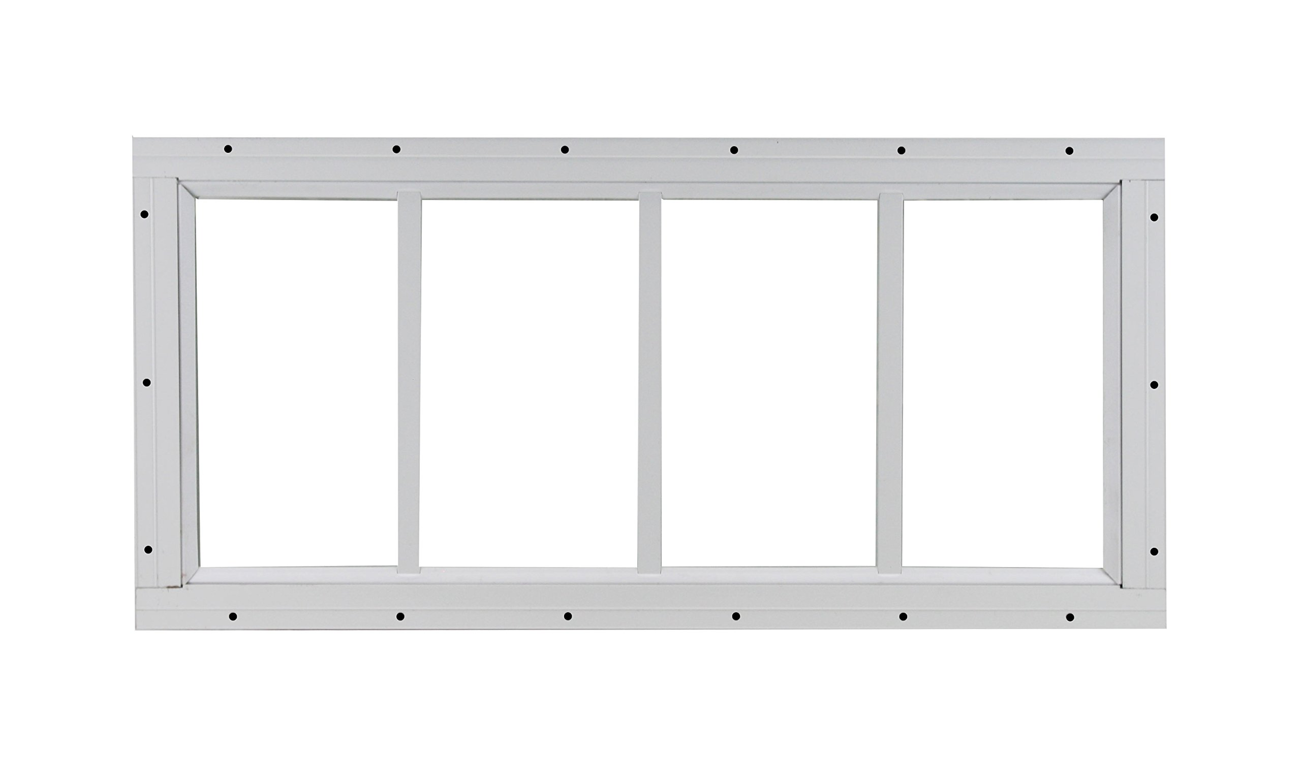 Shed Transom Window 10'' X 23'' White Flush