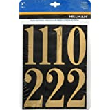 Hillman 842276 Black and Gold Mailbox Number Pack, 3-Inch