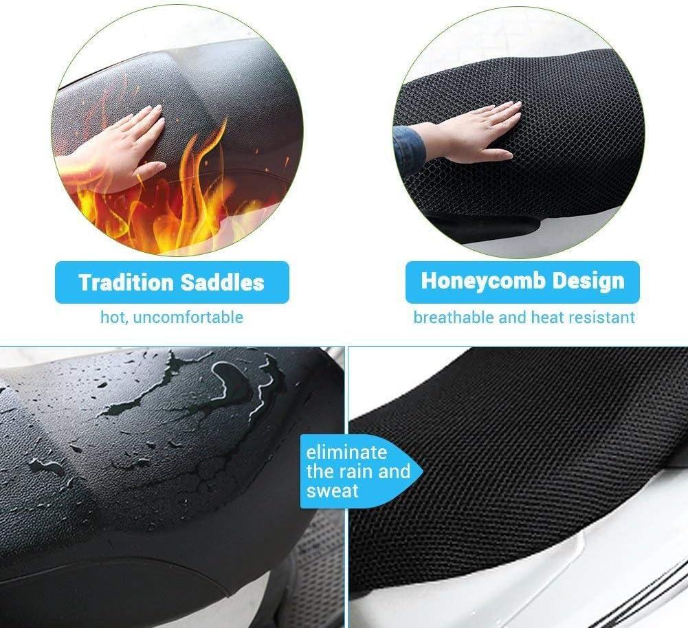 Coprisella per moto 3D impermeabile Sun Block Moto Bike Mesh Coprisedile per cuscino di fissaggio per moto