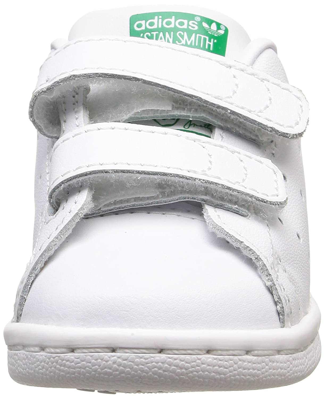 Adidas Stan Smith CF I - Zapatillas Deportivas para Niños, Color Blanco/Verde, Talla 26