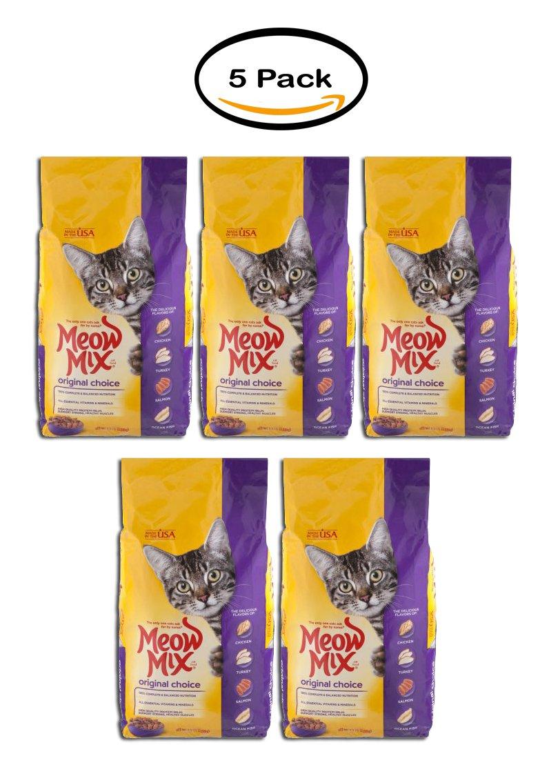 PACK OF 5 - Meow Mix Cat Food Original Choice, 6.3 LB