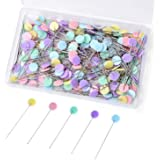 ESHATO 200 Pieces Sewing Pins, Flower Head Straight Quilting Pins for Sewing DIY Projects Dressmaker Jewelry Decoration
