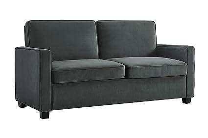 Stupendous Signature Sleep Casey Velvet Sofa With Memory Foam Mattress Full Size Gray Home Interior And Landscaping Sapresignezvosmurscom