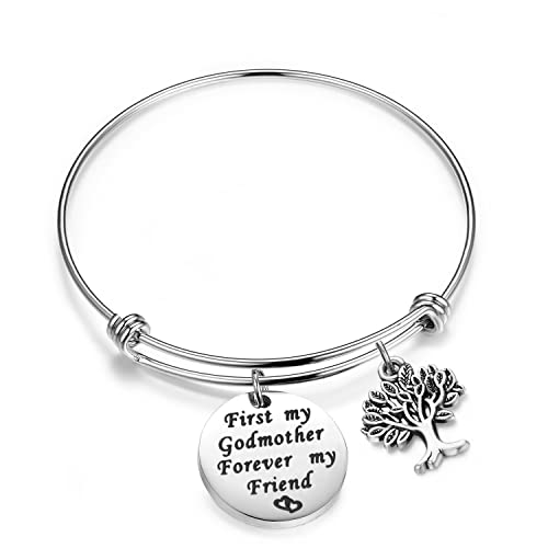 godmother ff bracelet aa bangles charm aunt christmas bangle gift personalized jewelry initial baptism handmade s cross