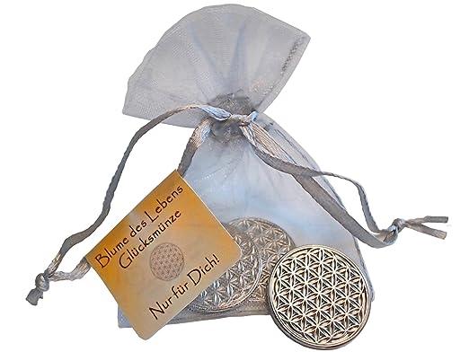Enerchrom Blume Des Lebens Glücksmünze 3 Münzen Farbe Silber