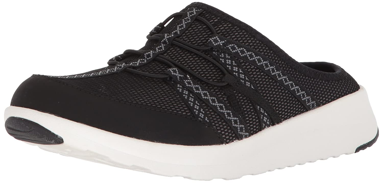 CLARKS Women's Darleigh Myra Sneaker B0721PLQ22 8.5 B(M) US|Black Mesh Textile